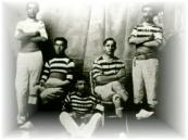 Los ganadores de regatas en categoría masculina, 1903.